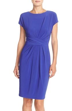 Adrianna Papell  - Matte Jersey Sheath Dress
