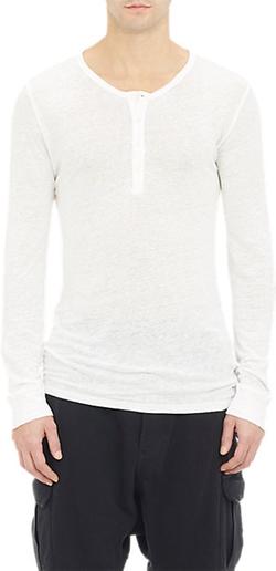 Balmain - Slub Henley Shirt
