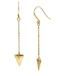 Robert Lee Morris Soho - Luxe Goldtone Triangle Drop Earrings
