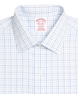 Brooks Brothers - Non-Iron Madison Fit Three-Color Tattersall Dress Shirt