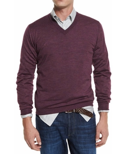 Brunello Cucinelli - Fine-Gauge V-Neck Sweater