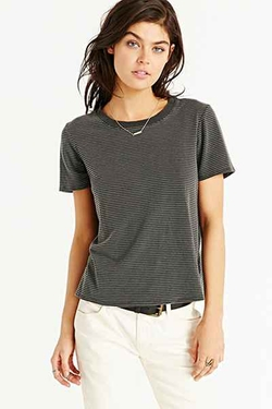 Truly Madly Deeply - Striped Boyfriend Ringer Tee