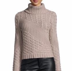 Ramy Brook - Silena Mixed-Knit Turtleneck Sweater