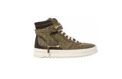 D-S!de - Croc Embossed Leather High Top Sneakers