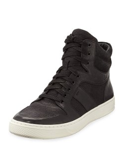 Vince - Leather High-Top Sneakers
