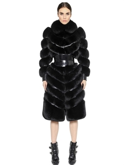 Alexander Mcqueen - Fox Fur & Nappa Leather Coat