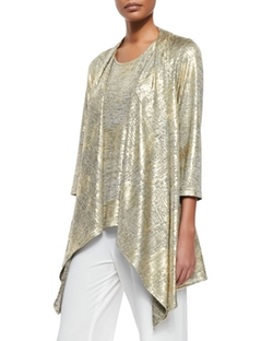Caroline Rose - Luminous Jersey Draped Jacket