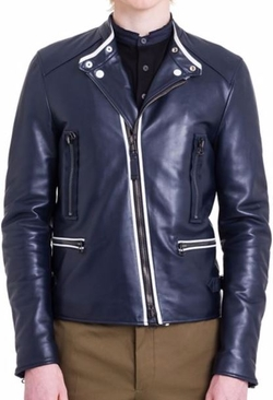 Lanvin  - Matte Leather Biker Jacket
