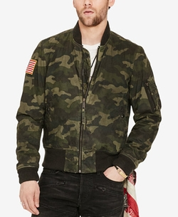 Denim & Supply Ralph Lauren - Waxed Bomber Jacket