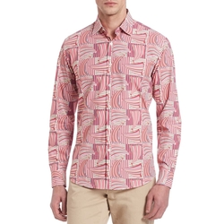 Salvatore Ferragamo - Exploded Sailboat Print Button-Down Shirt