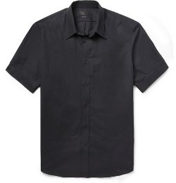 Alexander Mcqueen - Slim-Fit Short-Sleeved Cotton Shirt