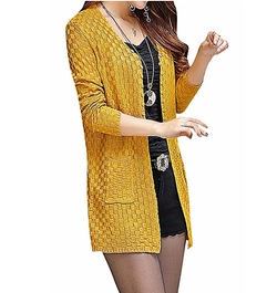 Maze - Checkered Buttoned Long Sleeve Cardigan
