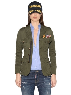 Dsquared2 - Cotton Canvas Military Jacket