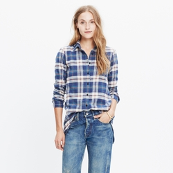 Rivet & Thread  - Hailey Plaid Flannel Slim Tunic Shirt