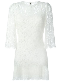 Dolce & Gabbana - Floral Lace Dress