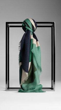 Burberry - Orchard Print Cashmere Square Scarf
