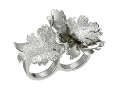 Alexander Mcqueen - Lotus Flower Double Ring