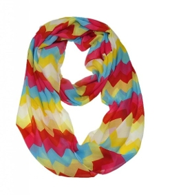 Wish Cart - Infinity Loop Circle Scarf Light Weight Chevron Sheer