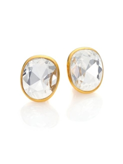 Kenneth Jay Lane  - Jeweled Clip-On Button Earrings
