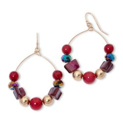 Mixit - Beaded Hoop Earrings