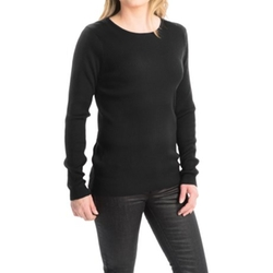 FDJ French Dressing -  Rib-Knit Fine Gauge Sweater