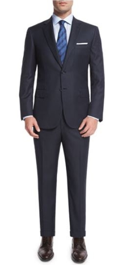 Brioni - Birdseye Striped Two-Piece Wool Suit