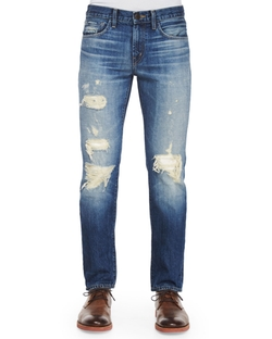 J Brand  - Tyler Deconstructed Ripped Denim Jeans
