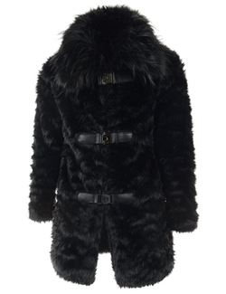 TheLees - Long Sleeve Faux Fur Coat