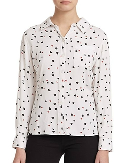 Rails - Rocsi Heart-Print Shirt