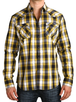 Micros - Wildflowers Long Sleeve Plaid Shirt
