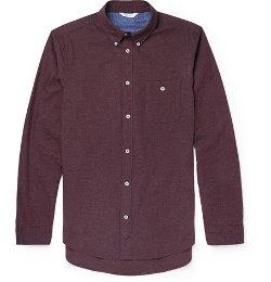 NN.07   - Derek Brushed-Cotton Shirt