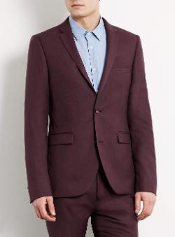 Topman - Berry Ultra Skinny Suit Jacket