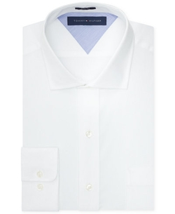 Tommy Hilfiger  - Slim-Fit White Solid Dress Shirt