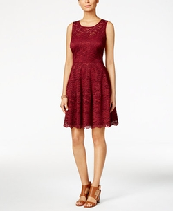 Tommy Hilfiger - Lace Fit & Flare Dress