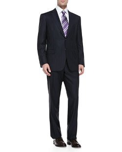 Brioni	  - Pinstriped Suit