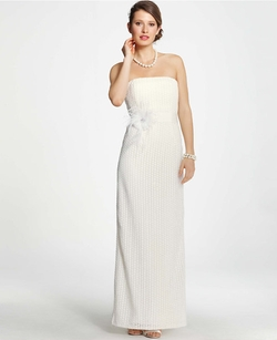 Ann Taylor - Lace Column Wedding Dress