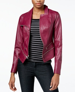 Guess - Larissa Faux-Leather Moto Jacket