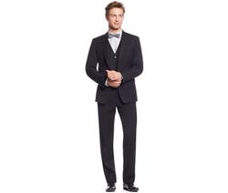 Calvin Klein  - Mini Herringbone Peak Lapel Slim-Fit Vested Suit
