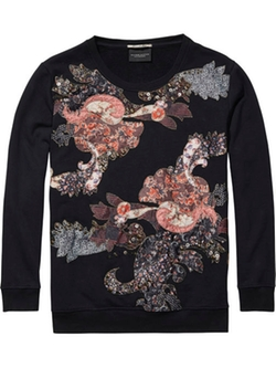 Scotch & Soda - Applique & Print Sweater