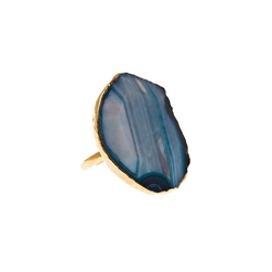 Charlene K - Turquoise Agate Quartz Gemstone Ring