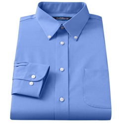 Croft & Barrow - Classic-Fit Solid Broadcloth Button-Down Collar Dress Shirt