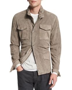 Brunello Cucinelli - Suede Safari Jacket