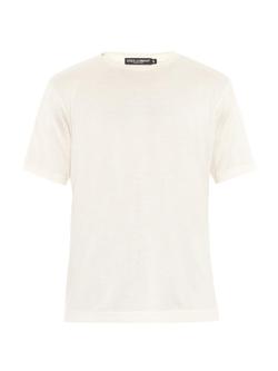 Dolce & Gabbana - Silk & Cotton-Blend T-Shirt