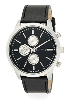English Laundry - Chronograph Leather Strap Watch