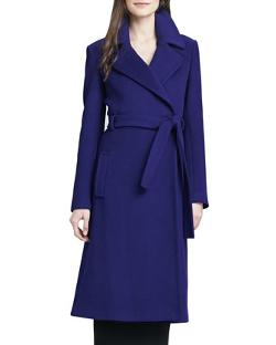 Diane von Furstenberg - Michaele Belted Wool-Blend Long Coat