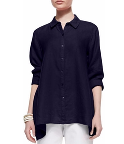 Eileen Fisher - Handkerchief Linen Boxy Shirt
