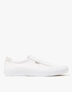 Vans - Court + In True White Leather Sneakers