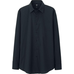 Uniqlo - Slim Fit Broadcloth Long Sleeve Shirt