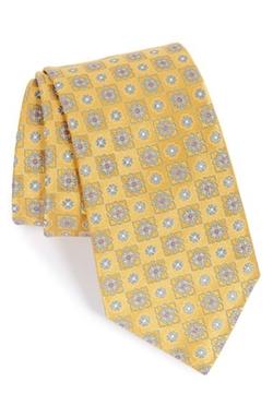 Canali - FloralMedallion Silk Tie