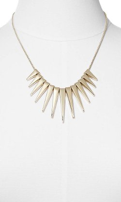 Express - Graduated Spike Necklace
